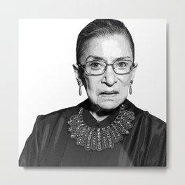 Ruth Bader Ginsburg Dissent Collar RBG Metal Print