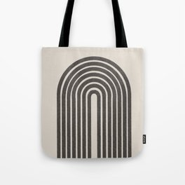 Rainbow Art, Geometric Mid Century, Tote Bag