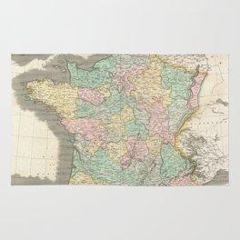 Vintage Map of France (1814) Rug