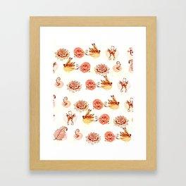 garden pattern Framed Art Print