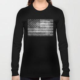 US flag, Old Glory in black & white Long Sleeve T-shirt