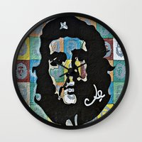 che Wall Clocks featuring Everywhere a Che, Che by Ethna Gillespie