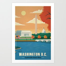 Washington D.C. Canvas Print Art Print