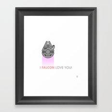 i FALCON love you Framed Art Print