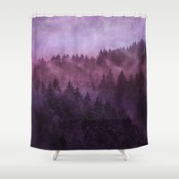 surrealism Shower Curtains featuring Excuse me, I'm lost // Laid Back Edit by Tordis Kayma