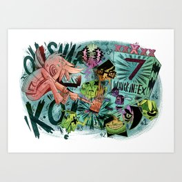 Scott Pilgrim, Fan Art Art Print