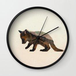 Little Ones: Fox Wall Clock