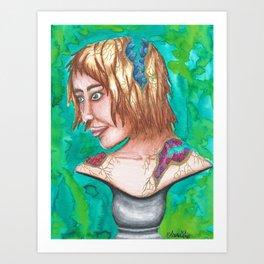 Geode Bust Art Print