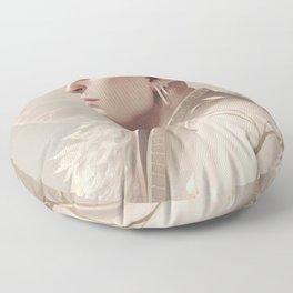 White wolf Floor Pillow