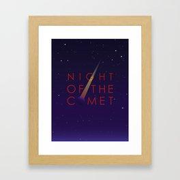 Night of the Comet Framed Art Print