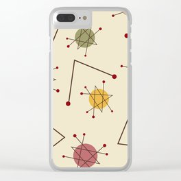 Atomic Era Autumn Clear iPhone Case