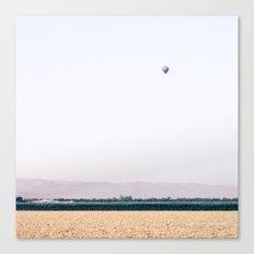 Hot Air Balloon Landscape  Canvas Print