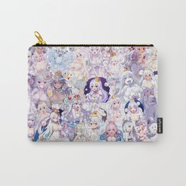 Booette Manga Anime Girls Collage in Colour Carry-All Pouch