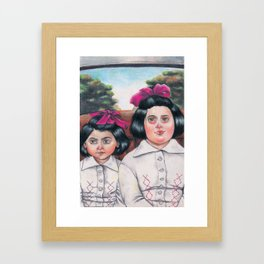 Ela and Bella. Framed Art Print