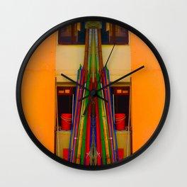 BAMBOO POLE Wall Clock