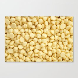 Milky white chocolate chips Canvas Print