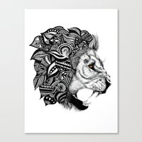leon Canvas Prints featuring Leon by Artful Schemes