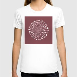 Merlot Love Symbol Mandala T-shirt
