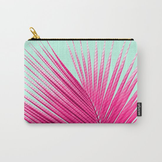 Pink Candy Cane Palm Carry-All Pouch
