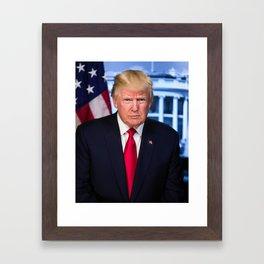 Portrait of President Donald J. Trump Framed Art Print