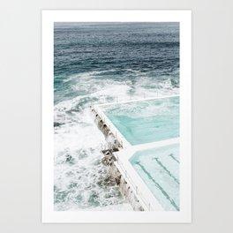 Bondi Pools Art Print