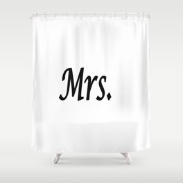 Mrs. Shower Curtain