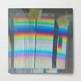 Abstract with rainbow Metal Print