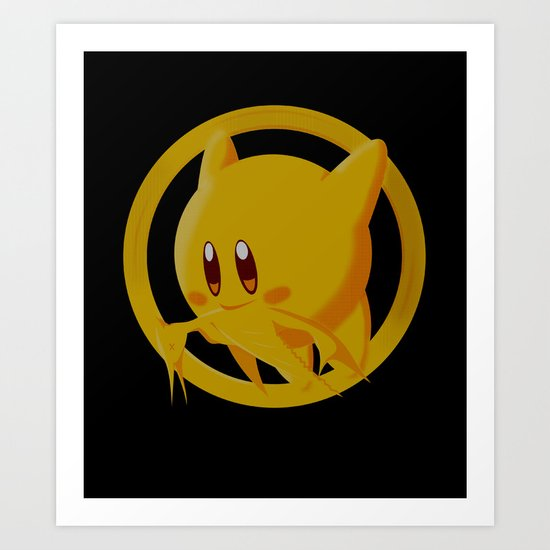 The Hungry Kirby Games Art Print