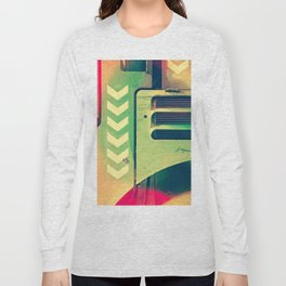 Road Roller Chevron 02 - Industrial Abstract (everyday 18.01.2017) Long Sleeve T-shirt