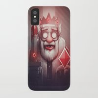 king iPhone & iPod Cases featuring King of Doom by Dr. Lukas Brezak