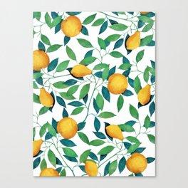 Lemon pattern II Canvas Print