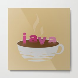 Java: This is so relaxing! Metal Print