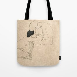 "Egon Schiele ""Lovers"" Tote Bag"