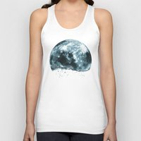 lunar Tank Tops featuring lunar water by sustici