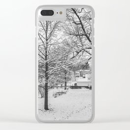 Winter #1 Clear iPhone Case