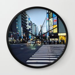 Tokyo Crosswalk Wall Clock