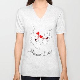 Abstract Love Unisex V-Neck