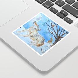 Wolf Moon Gazing Sticker