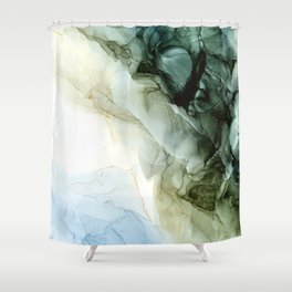 Land and Sky Abstract Landscape Painting Shower Curtain