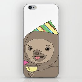 Party Sloth iPhone Skin