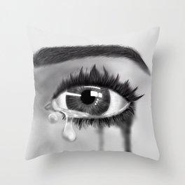 Crying Throw Pillow