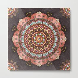 A Cosmic Flowering Metal Print