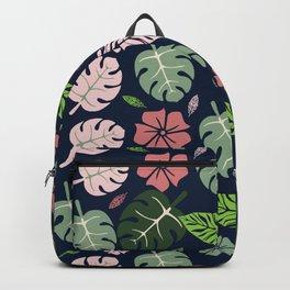 Tropical leaves Blue paradise #homedecor #apparel #tropical Backpack