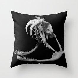 Gaboon Viper Skull CuP Throw Pillow