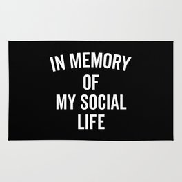 Memory Social Life Funny Quote Rug