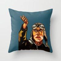 propaganda Throw Pillows featuring propaganda 1 by Ward Van Haute