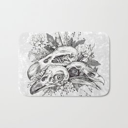 Skull Pile Bath Mat