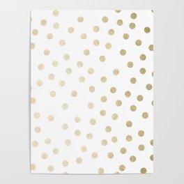 Stylish Gold Polka Dots Poster