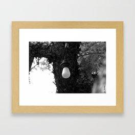 Bare Bulb Framed Art Print