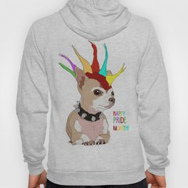 Happy Pride Month-Bad Ass Chihuahua Hoody